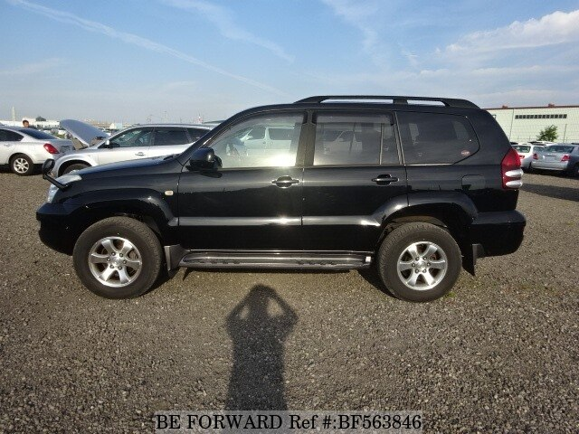 used 2005 toyota land cruiser prado tx limited cba trj120w for sale bf563846 be forward. Black Bedroom Furniture Sets. Home Design Ideas