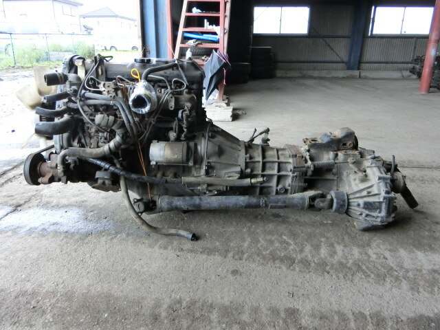 [Used]Engine & Transmission 3L 4WD MT TOYOTA Hiace Van
