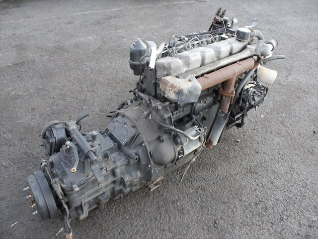 [Used]Engine & Transmission 6D15 0A 2WD MT MITSUBISHI Fighter