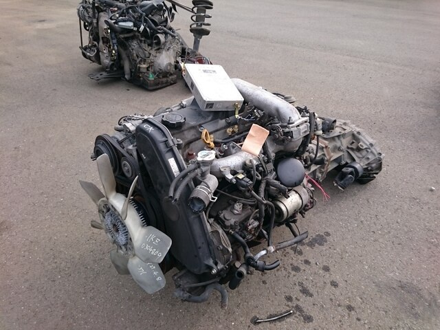 [Used]Engine & Transmission 1KZ-TE 4WD MT