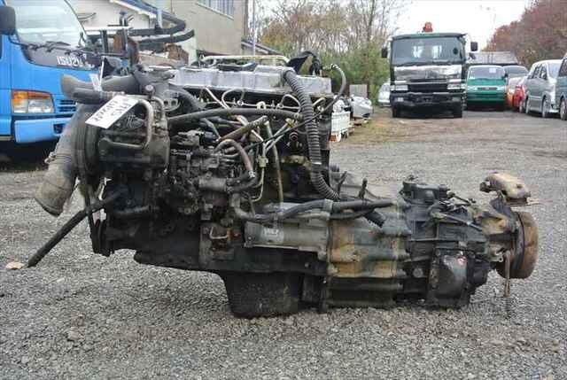[Used]Engine&Transmission 4M40 2WD MT MITSUBISHI CANTER, FB511B