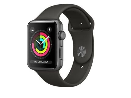 info for 1aee6 d6eff [New]Apple Watch SERIES 3 GPS Model 42mm Space Gray Aluminum Case with Gray  Sport Band Smart Watch