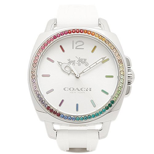 f358b6cb3ac89  New Coach COACH Coach Watch COACH 14502528 BOYFRIEND small boyfriend small  ladies watch watch silver white Rainbow  parallel Import Products