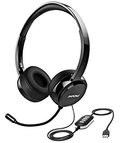 Newmpow Usb Headset3 5 Mm Computer Headset With Microphone Noise