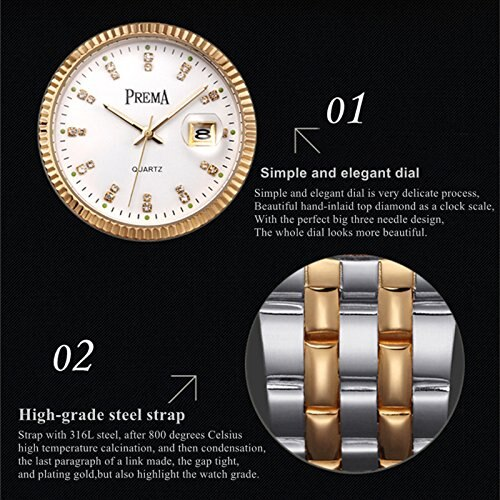 [New]Smalody Mens analog Watch Stainless band business chronograph date quartz watch - BE FORWARD Store