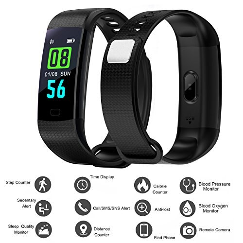 Newest smart wristband et02 hear rate blood oxygen monitor.