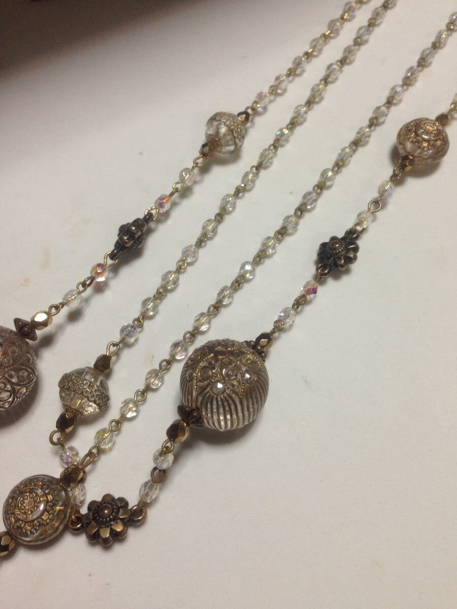 Used Antique Plastic Long Necklace