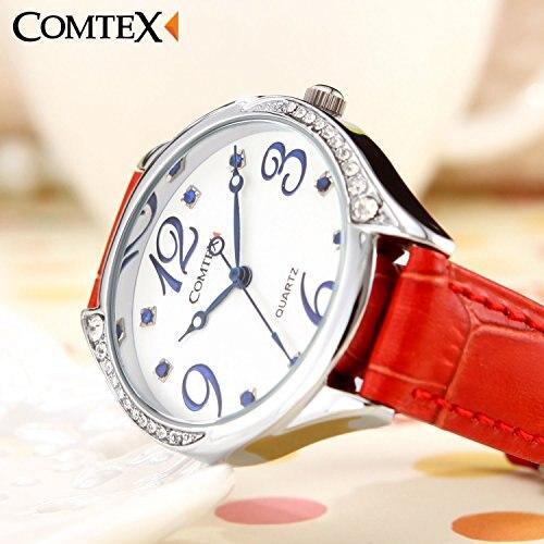 0bf202b2c Comtex Watch red leather band quartz watch Watch ladies Blue Caps.  //image-cdn.beforward.jp/autoparts/original/201811/. 1 / 9