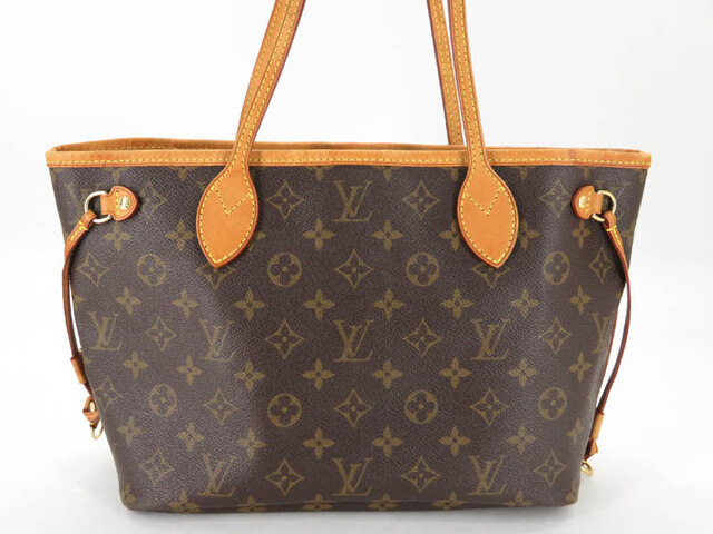 623ab90d0c99 Used AUTH LOUIS VUITTON M40155 MONOGRAM NEVERFULL PM TOTE BAG EY018 ...