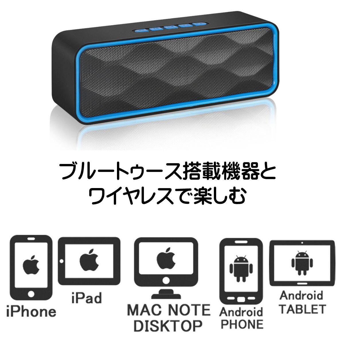[New]Plural two AGM Bluetooth Bluetooth speakers simultaneous connection FM  Radio koonshitsujuteionshitsunaishashokatayagairyoko iphone ipod mac pc