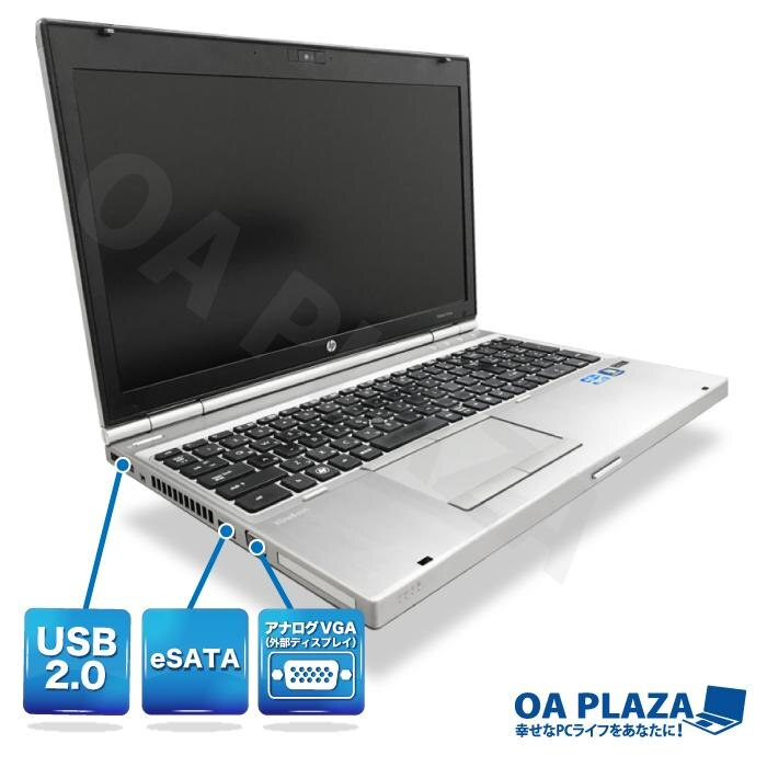 [Used]USB3 0 PC used goods PC refreshment PC with Windows10 Windows7 15  inches wide Corei5 HDD500GB memory 4GB DVDROM wireless LAN HP 8570p Office