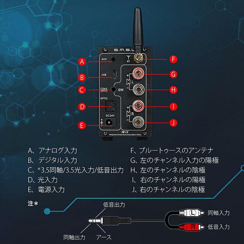 [New]SMSL AD18 power amp DAC decoder 80Wx2 DSP Bluetooth4 2 AD18 Apt-X NFC  digital Amplifier stereo speaker optical fiber coaxial input