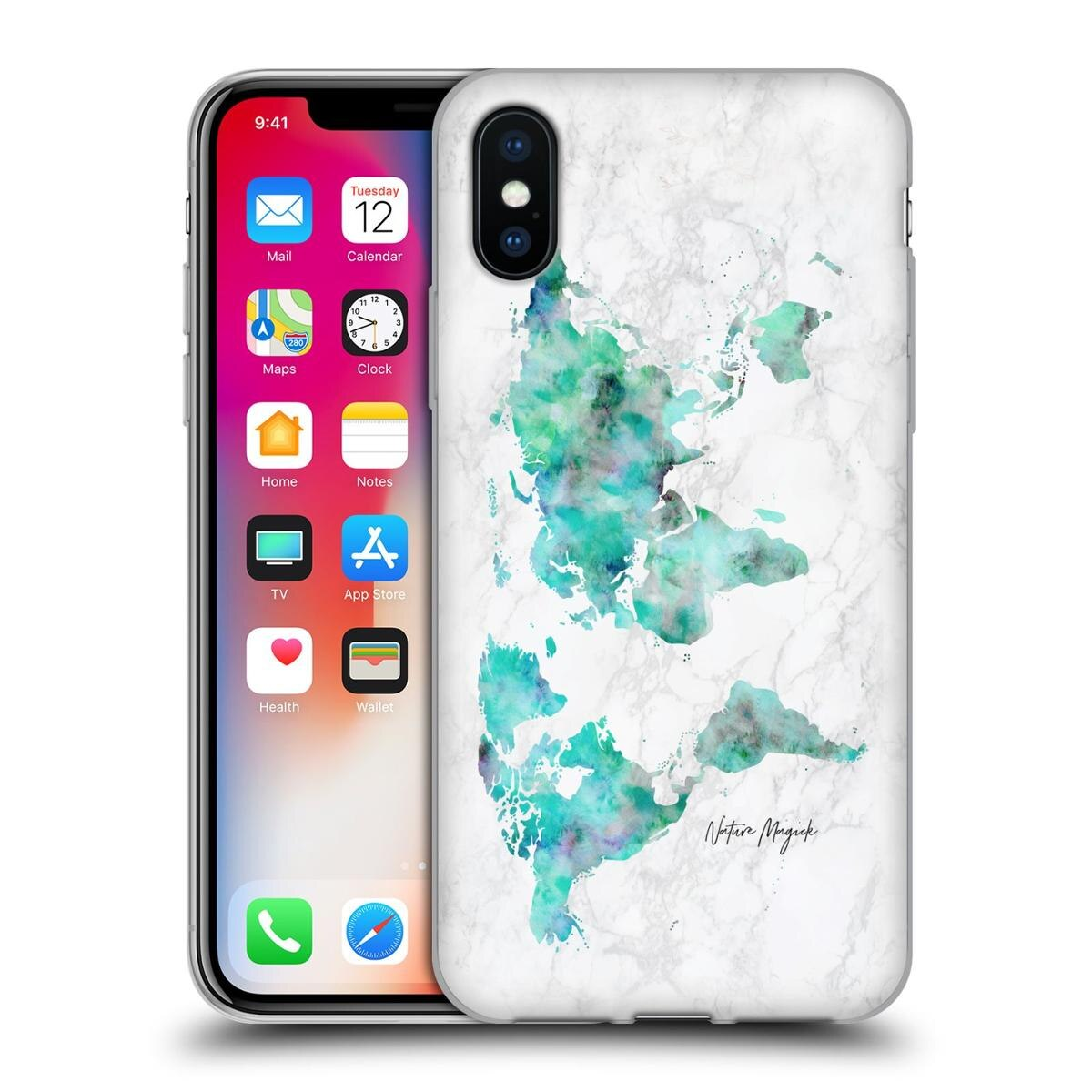 Picture of: New Official Nature Magick World Map On Marble Software Gel Case Apple Case Be Forward Store