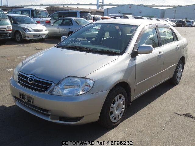 used 2002 toyota corolla sedan g ta nze121 for sale bf96262 be forward. Black Bedroom Furniture Sets. Home Design Ideas