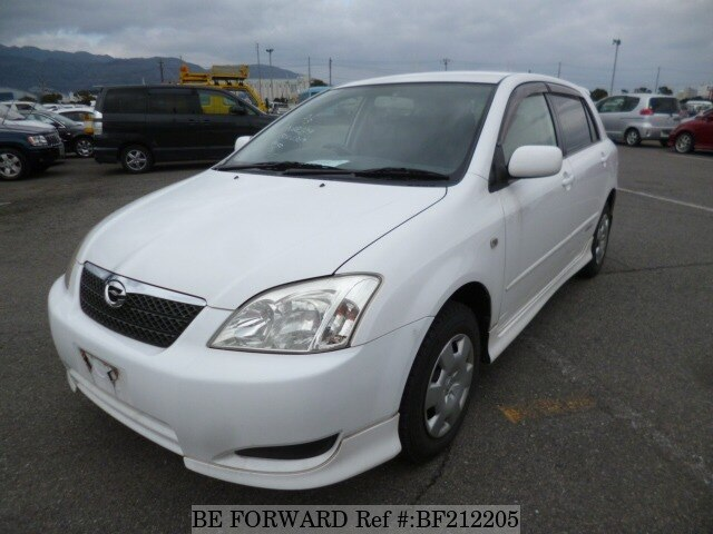 Used 2002 TOYOTA COROLLA RUNX BF212205 for Sale