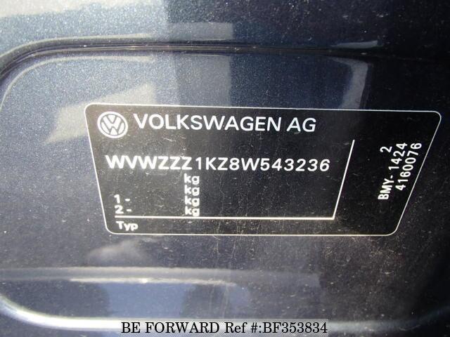 Used 2008 VOLKSWAGEN CROSS GOLF 1 4 TSI/ABA-1KBMY for Sale BF353834