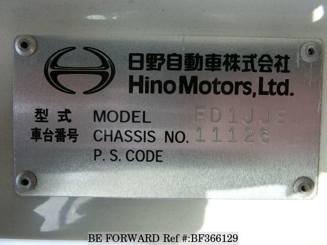 Used 2003 hino ranger turbokk fd1jjea for sale bf366129 be forward used 2003 hino ranger bf366129 for sale image fandeluxe Images