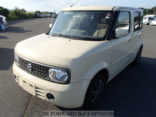 used 2008 nissan cube 15m dba yz11 for sale bf703789 be forward. Black Bedroom Furniture Sets. Home Design Ideas