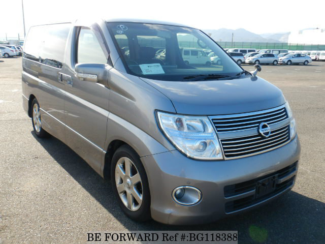 Used 2009 NISSAN ELGRAND HIGHWAY STAR BLACK LEATHER ED/CBA-ME51 for