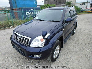 Used 2009 TOYOTA LAND CRUISER PRADO BG518674 for Sale