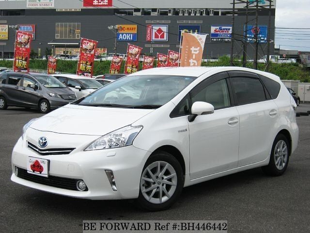Used 2013 TOYOTA PRIUS ALPHA BH446442 for Sale