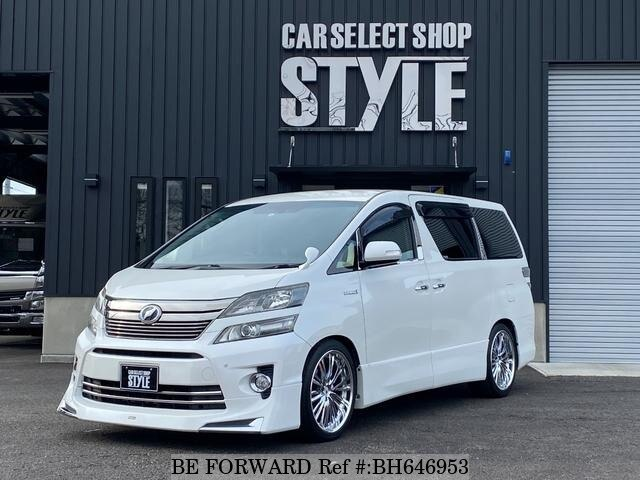 Used 2012 TOYOTA VELLFIRE HYBRID BH646953 for Sale