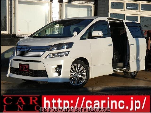 Used 2013 TOYOTA VELLFIRE BK009922 for Sale