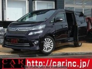 Used 2013 TOYOTA VELLFIRE BK009929 for Sale