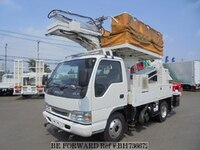 2003 ISUZU ELF TRUCK ROAD-RAIL AERIAL WORK PLATFORM