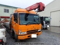 2003 MITSUBISHI FIGHTER FLAT BODY WITH CRANE