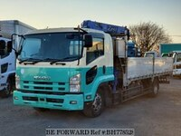 2009 ISUZU FORWARD FLAT DECK WITH CRANE